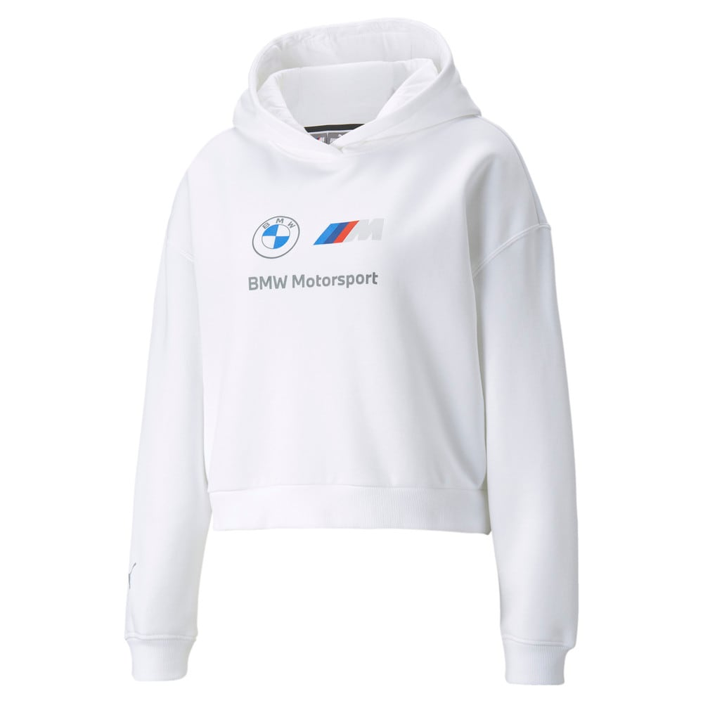 Изображение Puma Толстовка BMW M Motorsport Essentials Logo Women's Hoodie #1: Puma White