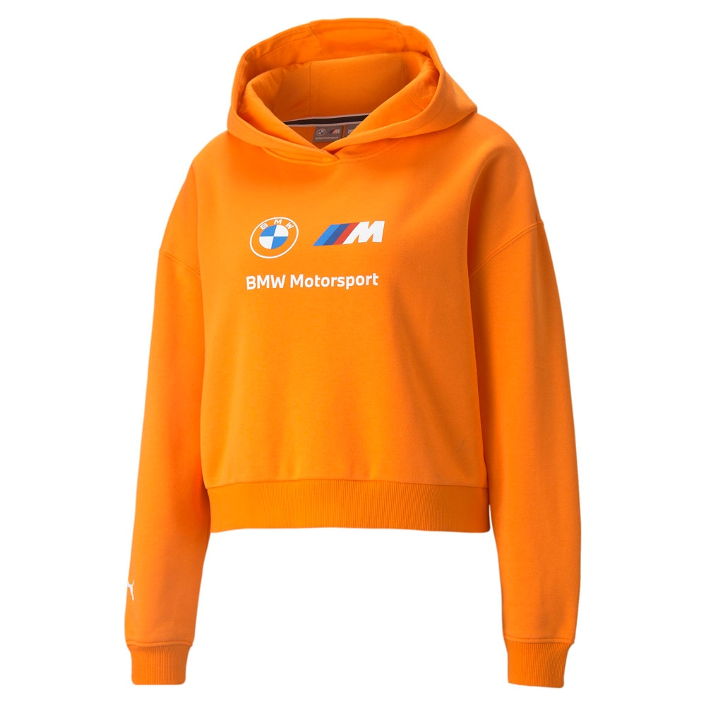 Зображення Puma Толстовка BMW M Motorsport Essentials Logo Women's Hoodie #1: Vibrant Orange