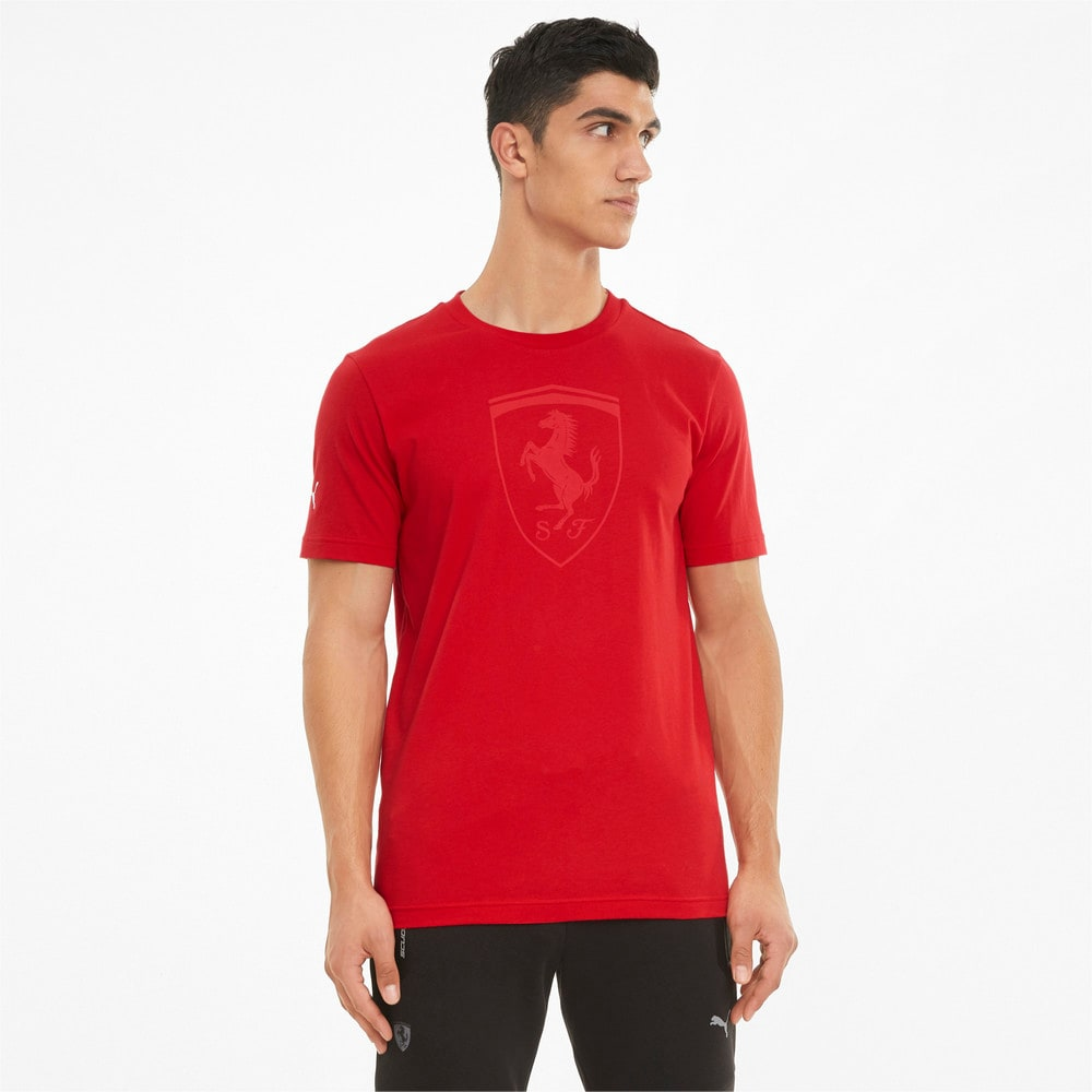 Изображение Puma Футболка Scuderia Ferrari Race Big Shield Tonal Men's Tee #1