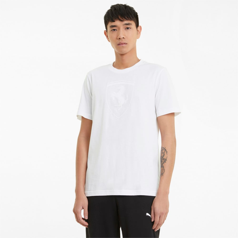 Зображення Puma Футболка Scuderia Ferrari Race Big Shield Tonal Men's Tee #1