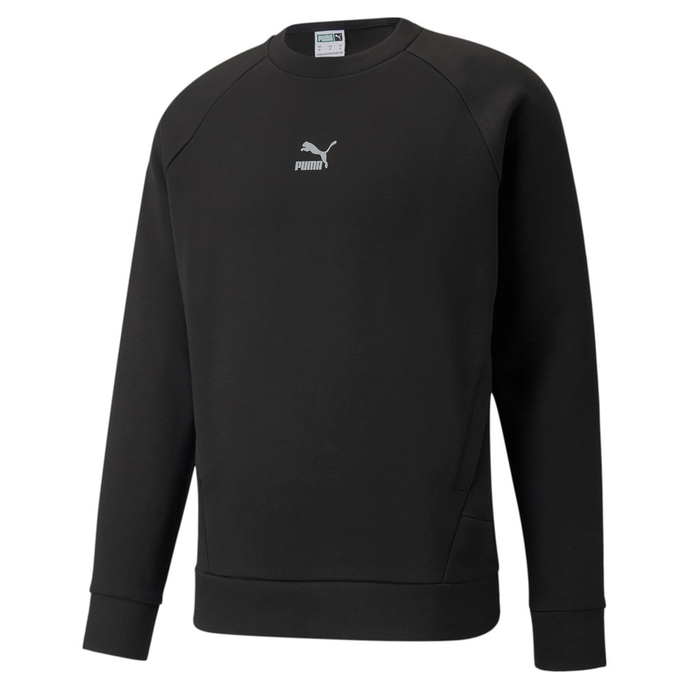 Image Puma Classics Tech Double Knit Crew Neck Men's Sweatshirt #1