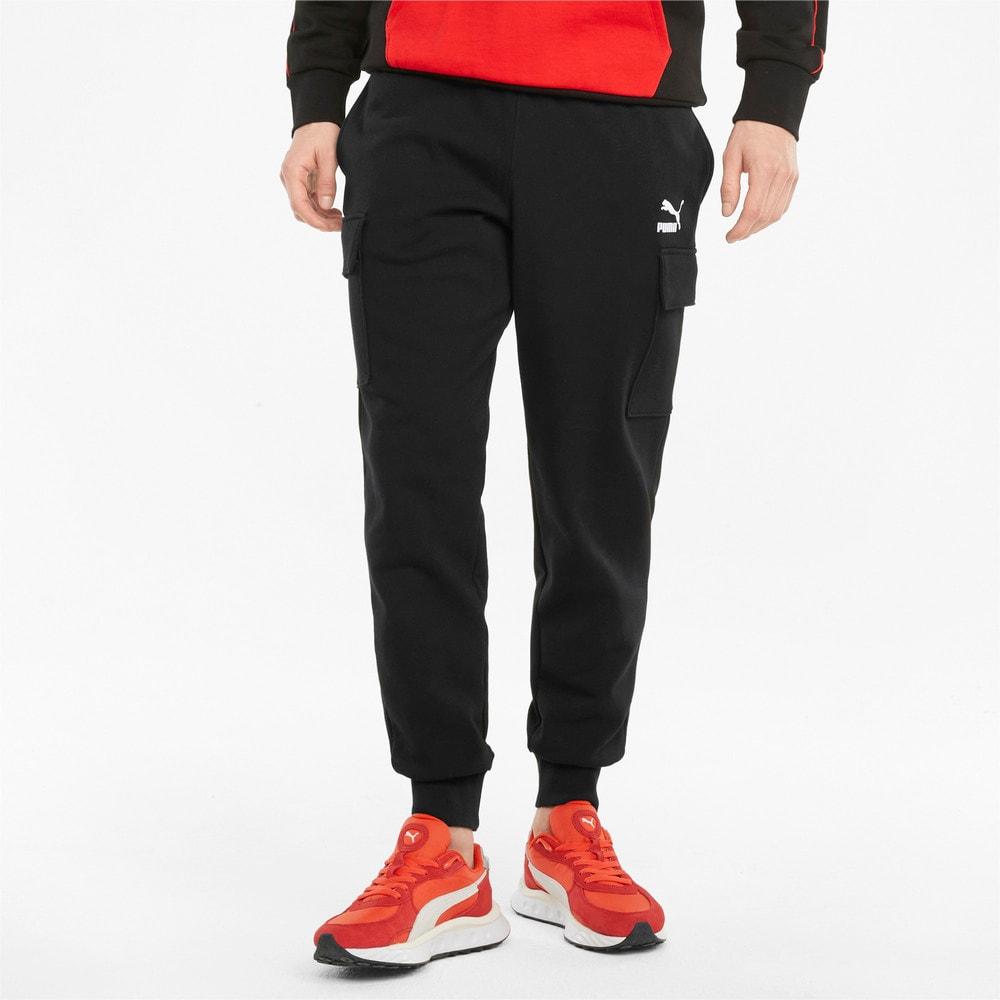 Imagen PUMA Pantalones de felpa francesa y estilo cargo para hombre CLSX #1