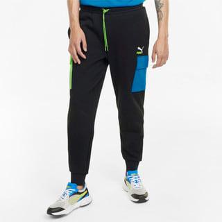 Imagen PUMA Pantalones de felpa francesa y estilo cargo para hombre CLSX