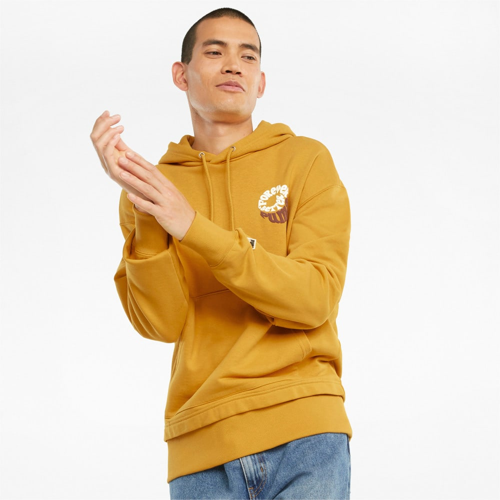 Изображение Puma Толстовка Downtown Graphic French Terry Men's Hoodie #1: Mineral Yellow