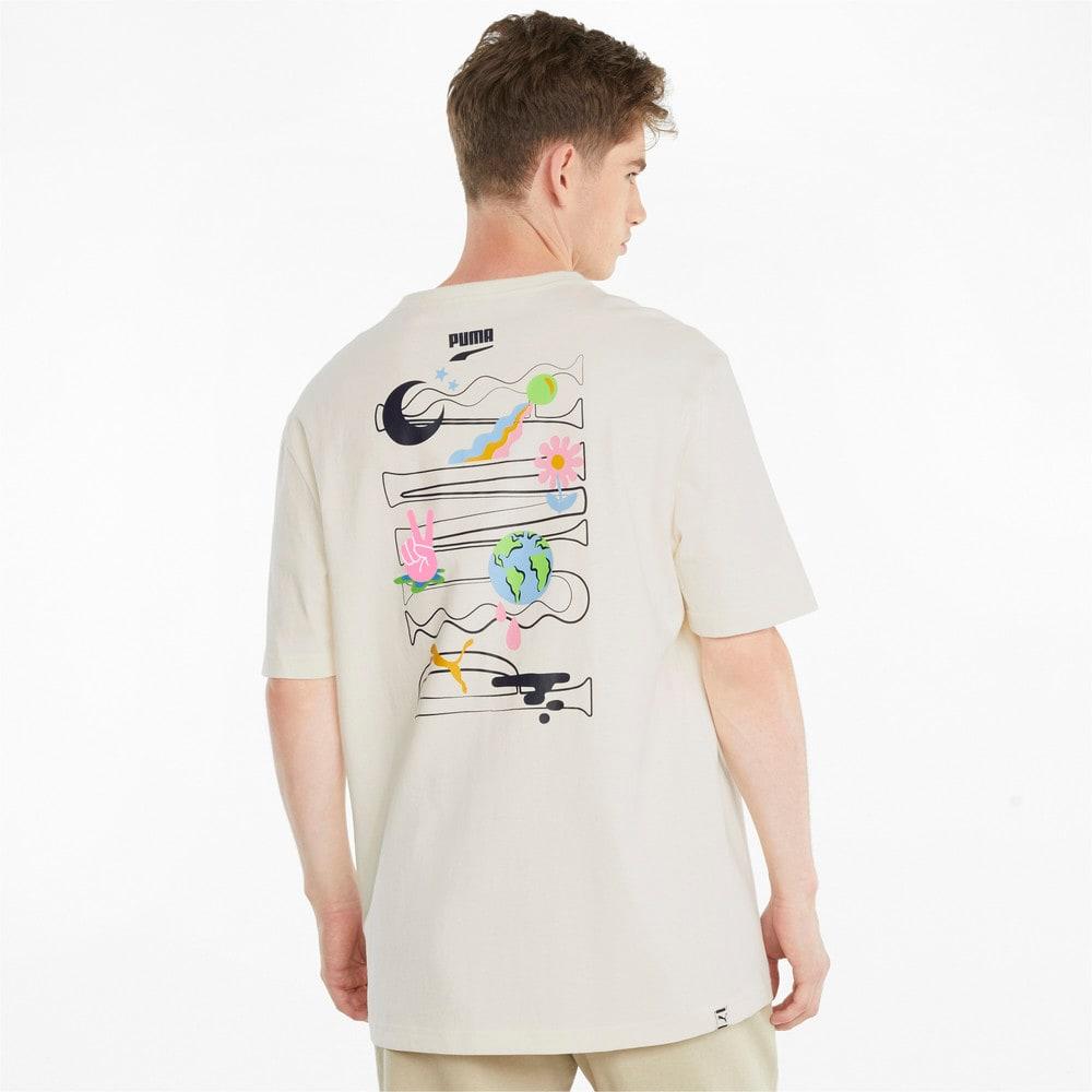 Görüntü Puma DOWNTOWN Grafikli Erkek T-shirt #2