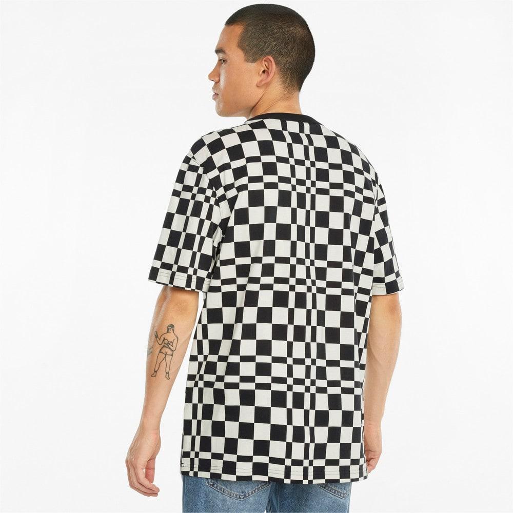 Görüntü Puma DOWNTOWN Baskılı Kareli Erkek T-shirt #2