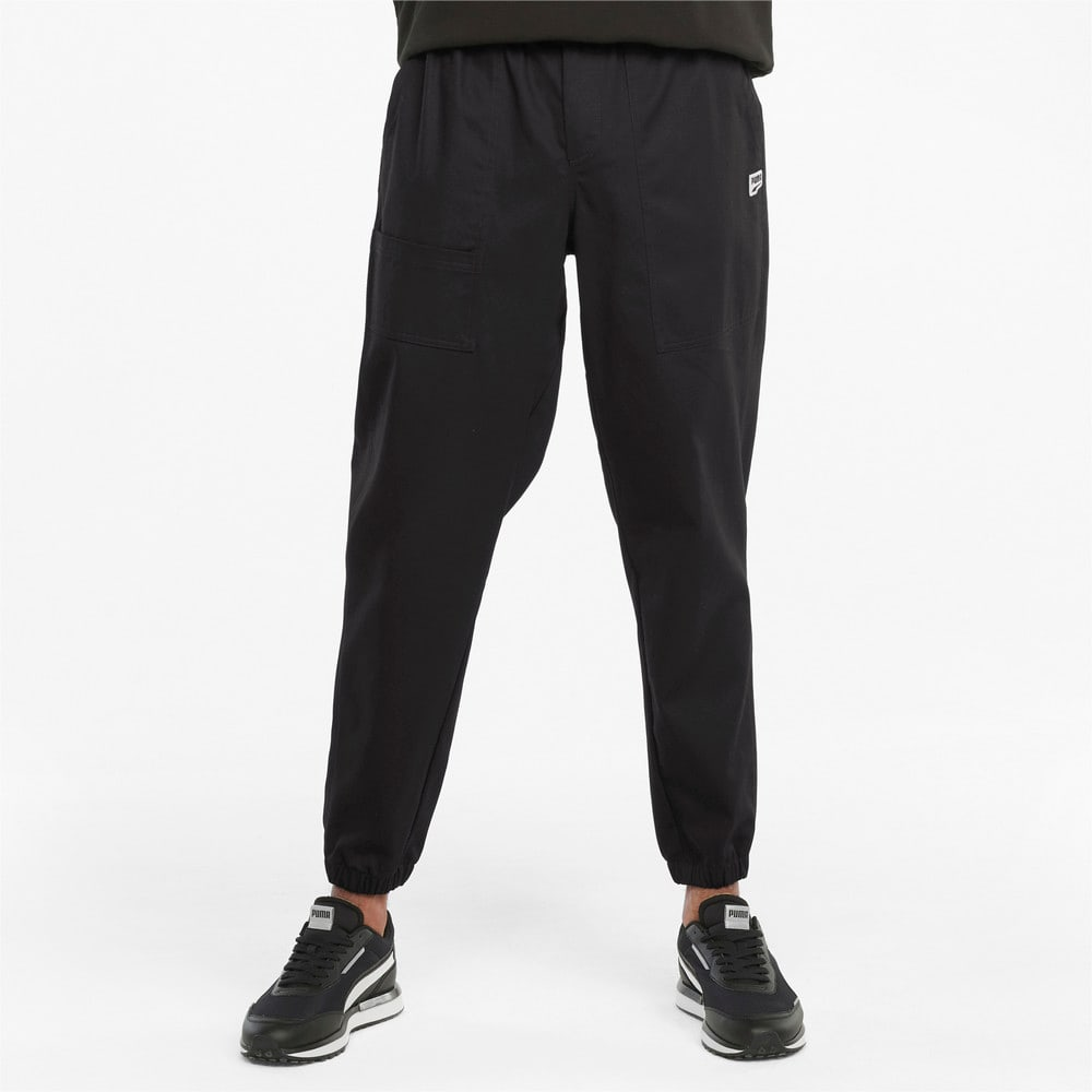Зображення Puma Штани Downtown Twill Men's Pants #1: Puma Black