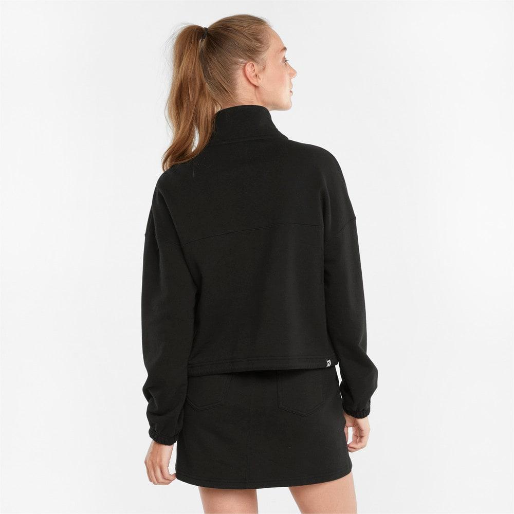 Изображение Puma Олимпийка Downtown Half-Zip Women's Jacket #2: Puma Black