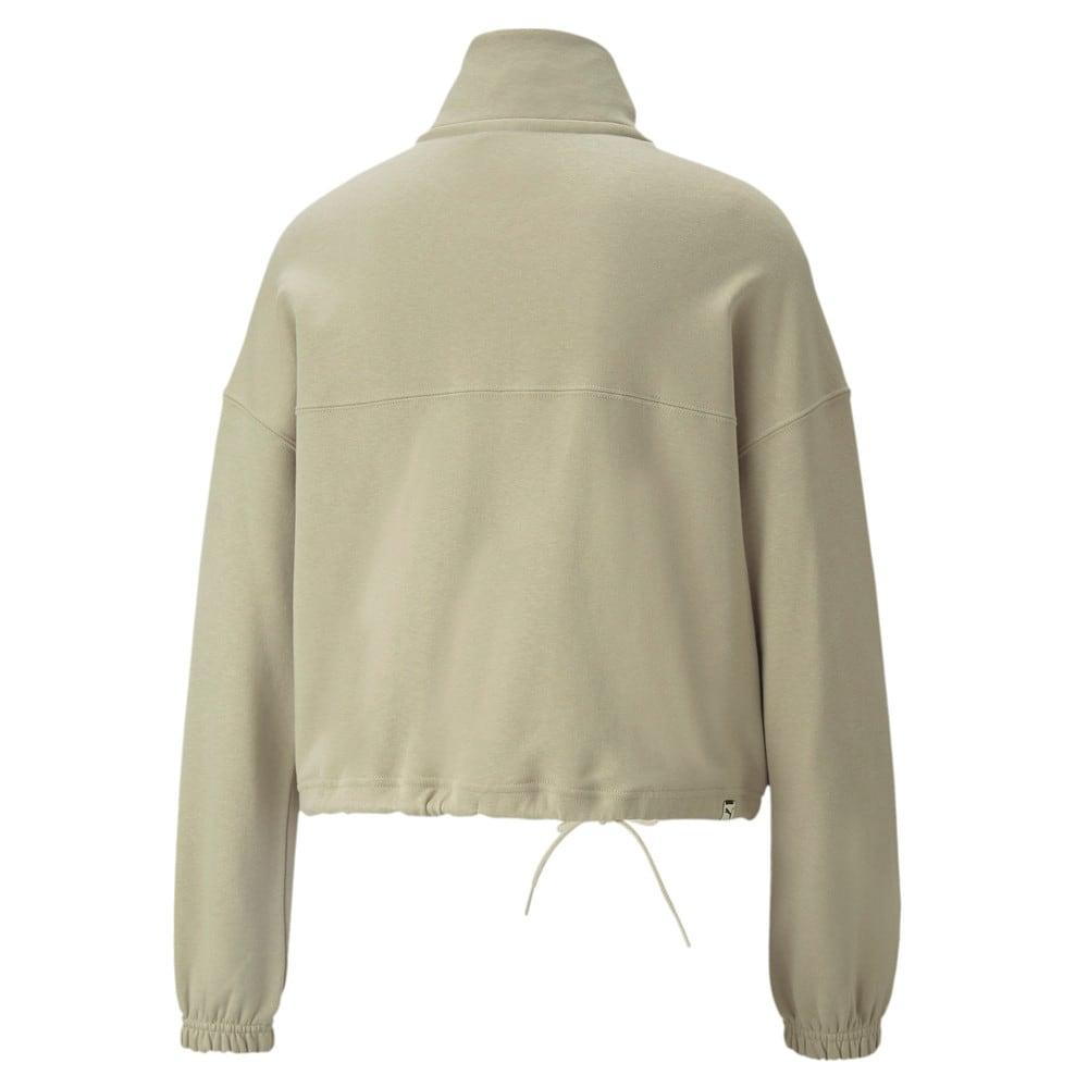 Изображение Puma Олимпийка Downtown Half-Zip Women's Jacket #2: Spray Green