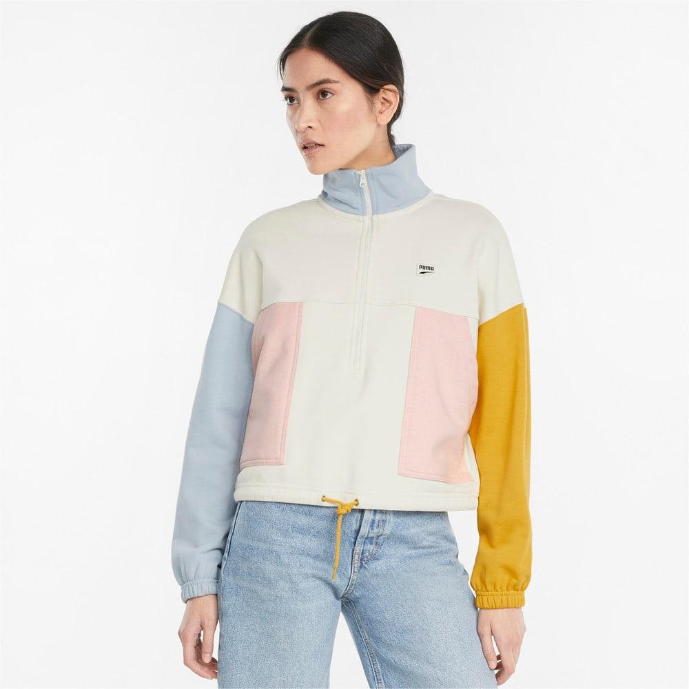Изображение Puma Олимпийка Downtown Half-Zip Women's Jacket #1: Ivory Glow