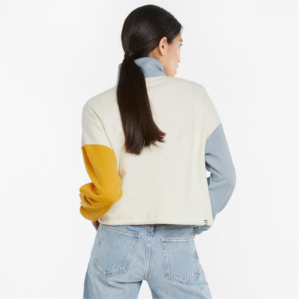Изображение Puma Олимпийка Downtown Half-Zip Women's Jacket #2: Ivory Glow