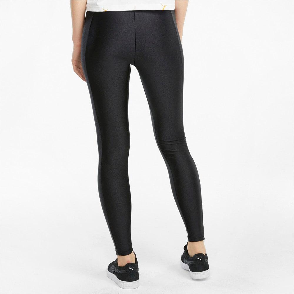Imagen PUMA Leggings de cintura alta para mujer Classics Shiny #2