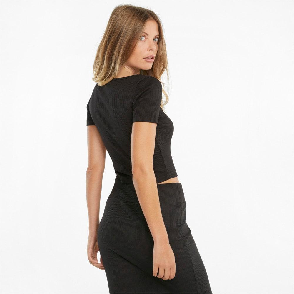 Image PUMA Camiseta Classics Ribbed Fitted Feminina #2