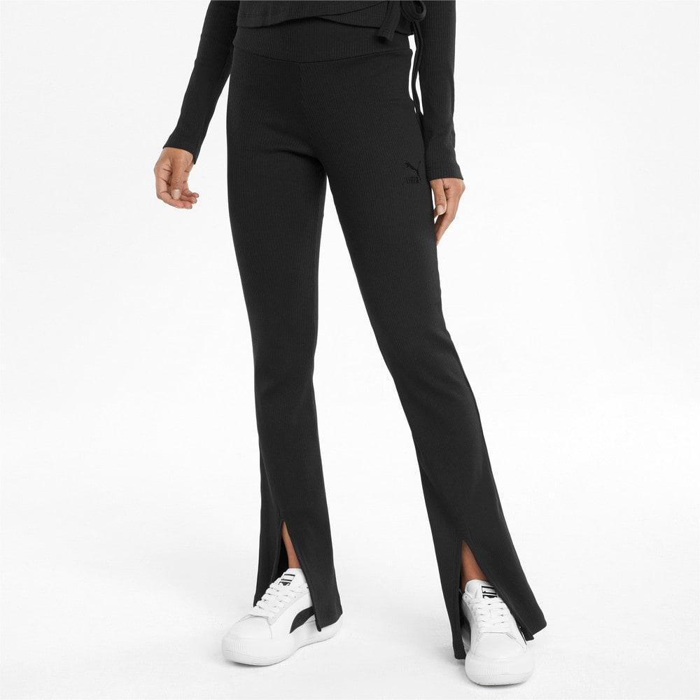 Зображення Puma Штани Classics Ribbed Women's Slit Pants #1: Puma Black