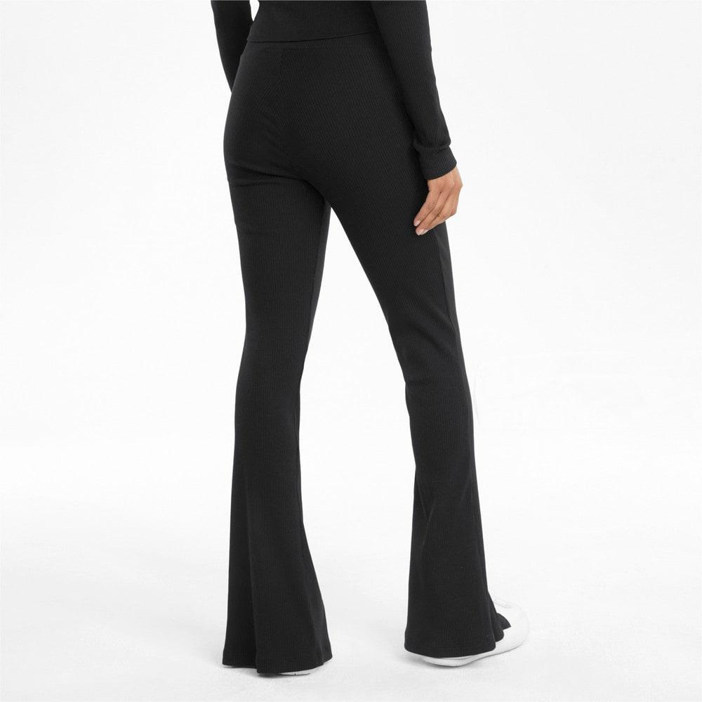 Зображення Puma Штани Classics Ribbed Women's Slit Pants #2: Puma Black