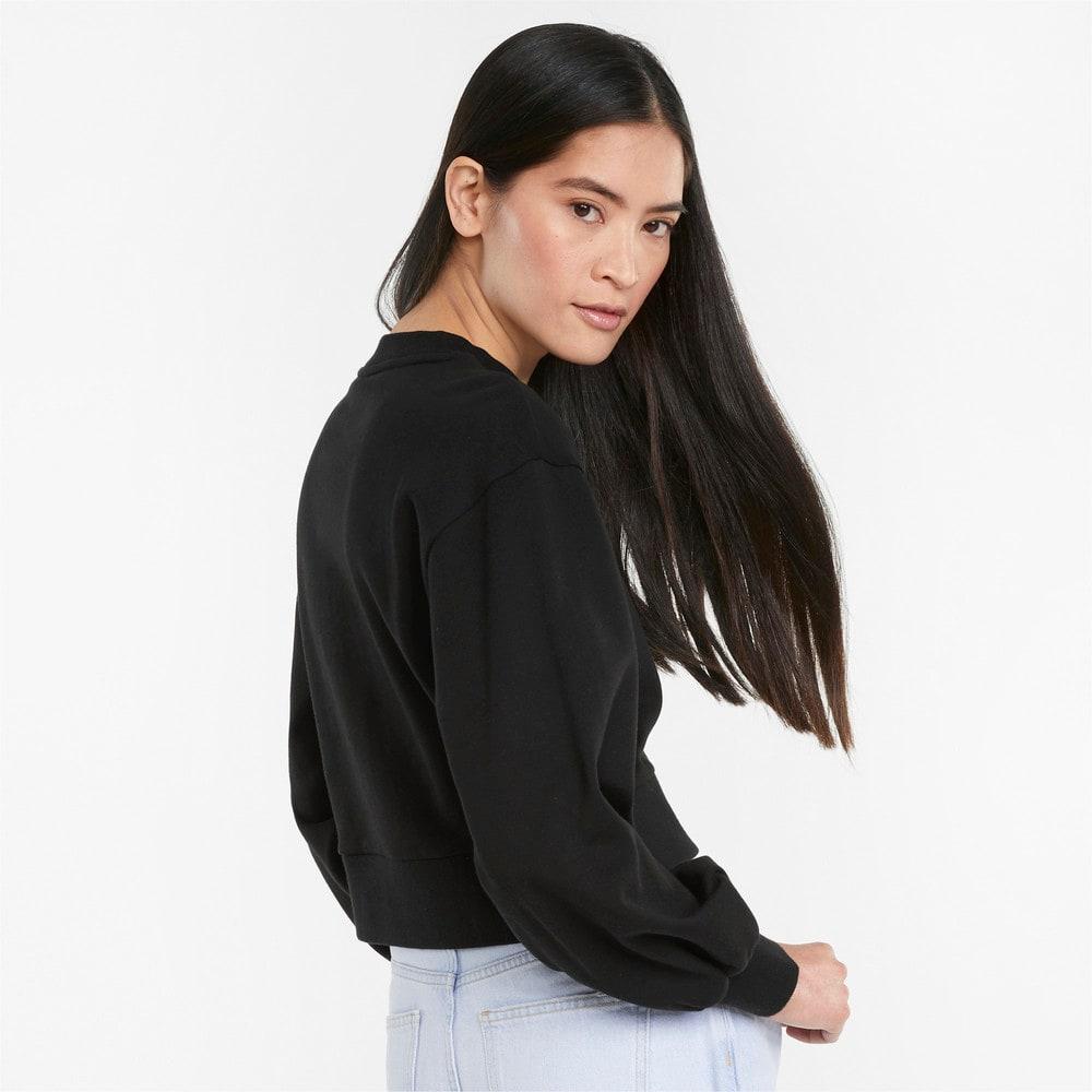 Зображення Puma Толстовка Classics Puff Sleeve Crew Neck Women's Sweatshirt #2: Puma Black