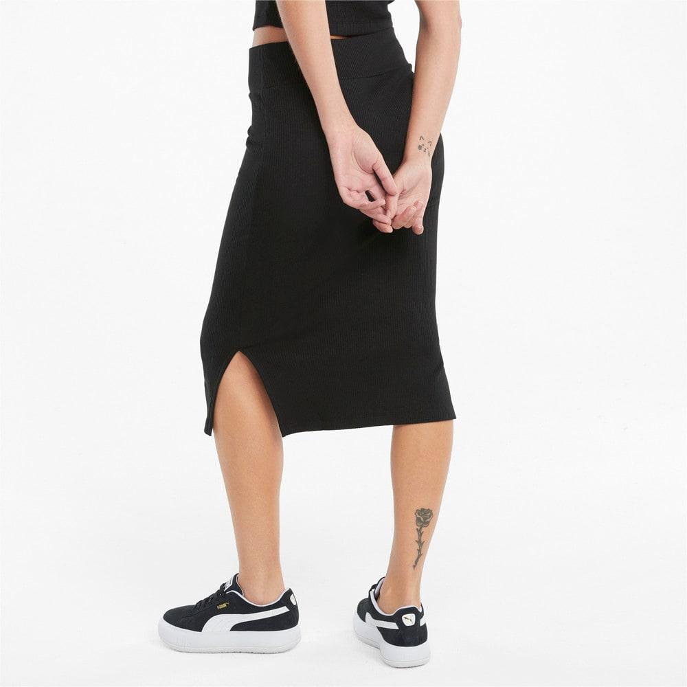 Image Puma Classics Ribbed Women's Midi Skirt #2