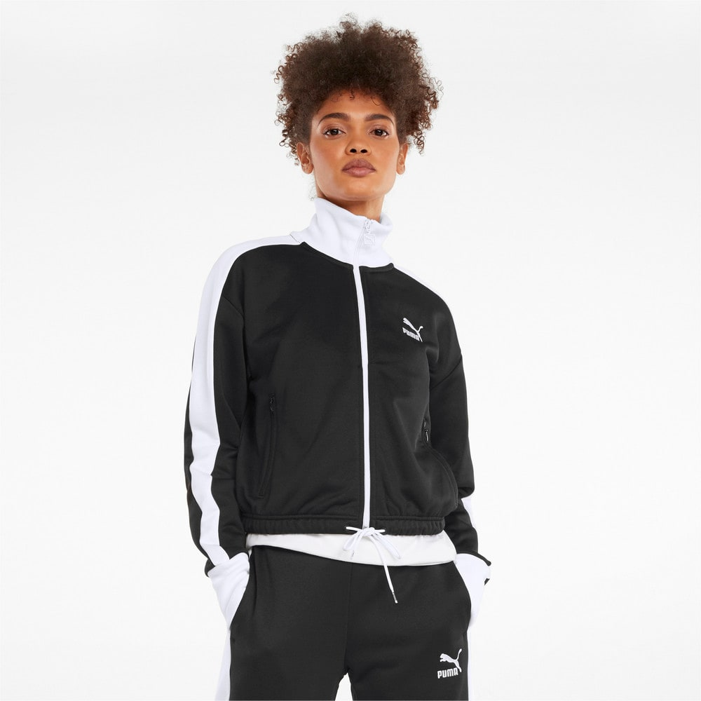 Изображение Puma Олимпийка Iconic T7 Cropped PT Women's Jacket #1: Puma Black