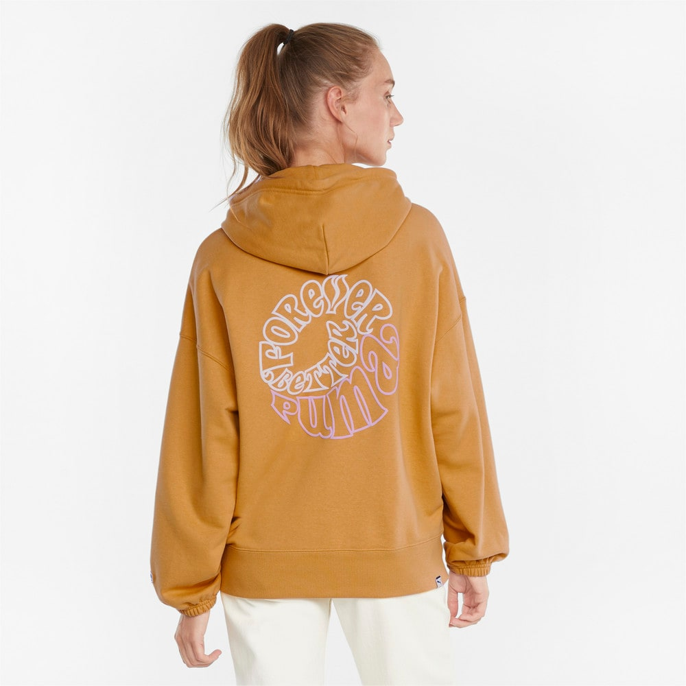 Görüntü Puma DOWNTOWN Grafikli Kadın Kapüşonlu Sweatshirt #2