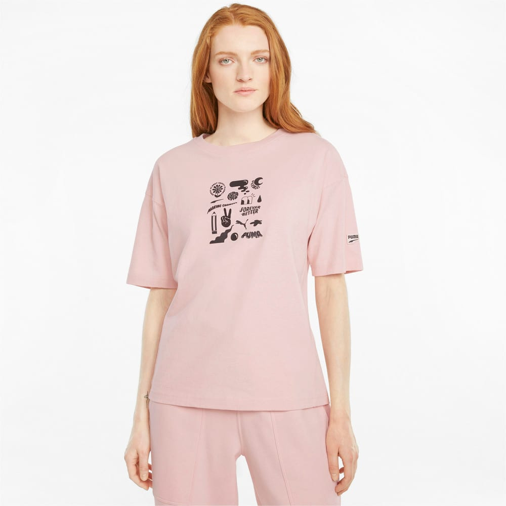 Зображення Puma Футболка Downtown Graphic Women's Tee #1: Lotus