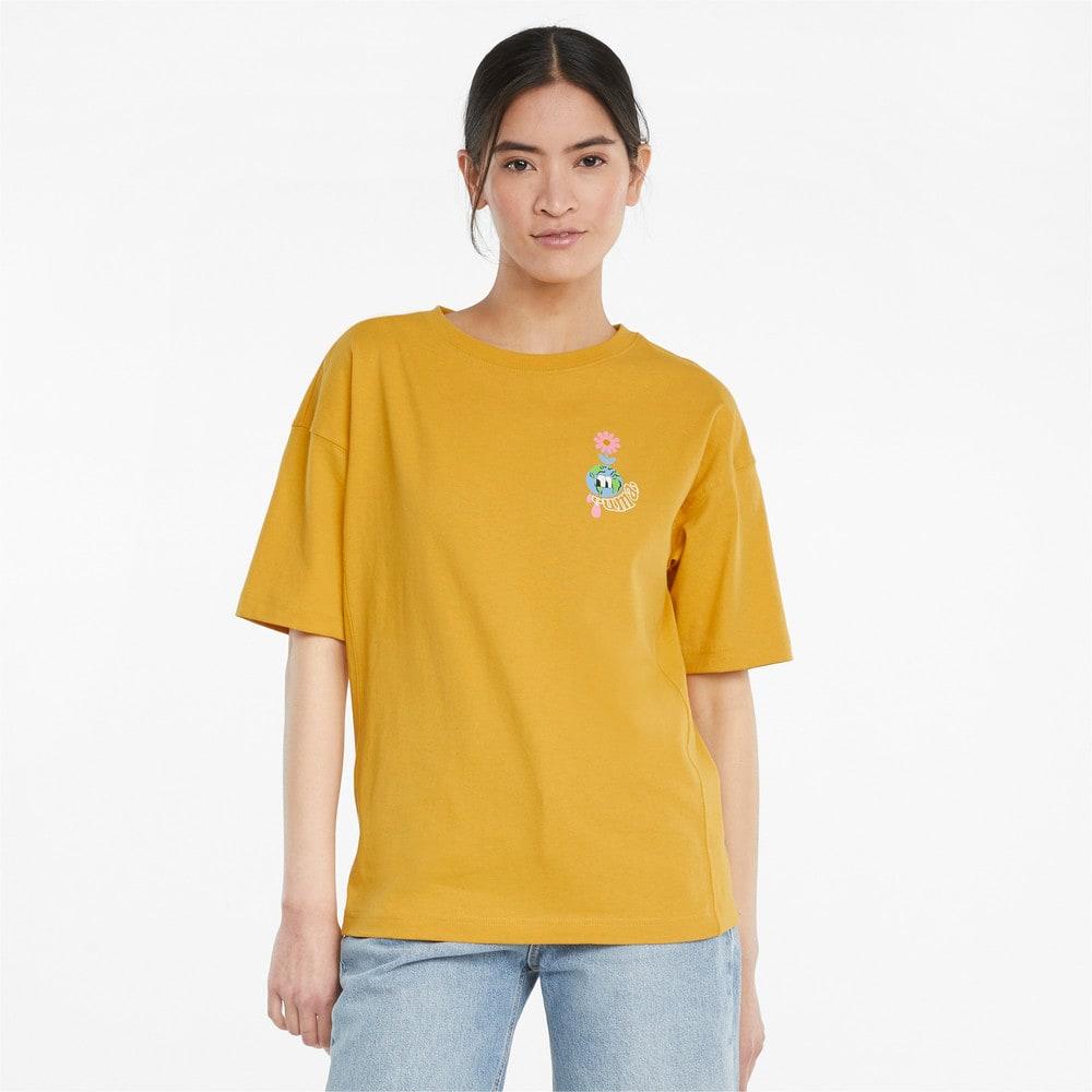 Görüntü Puma DOWNTOWN Grafikli Kadın T-shirt #1