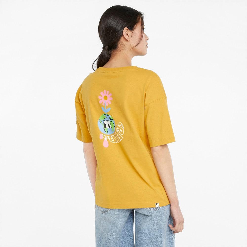 Görüntü Puma DOWNTOWN Grafikli Kadın T-shirt #2