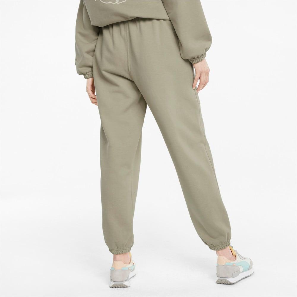 Изображение Puma Штаны Downtown Women's Sweatpants #2: Spray Green