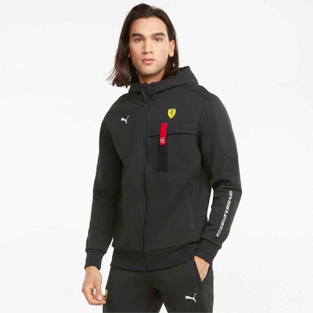 Зображення Puma Толстовка Scuderia Ferrari Race Hooded Men's Sweat Jacket #1: Puma Black