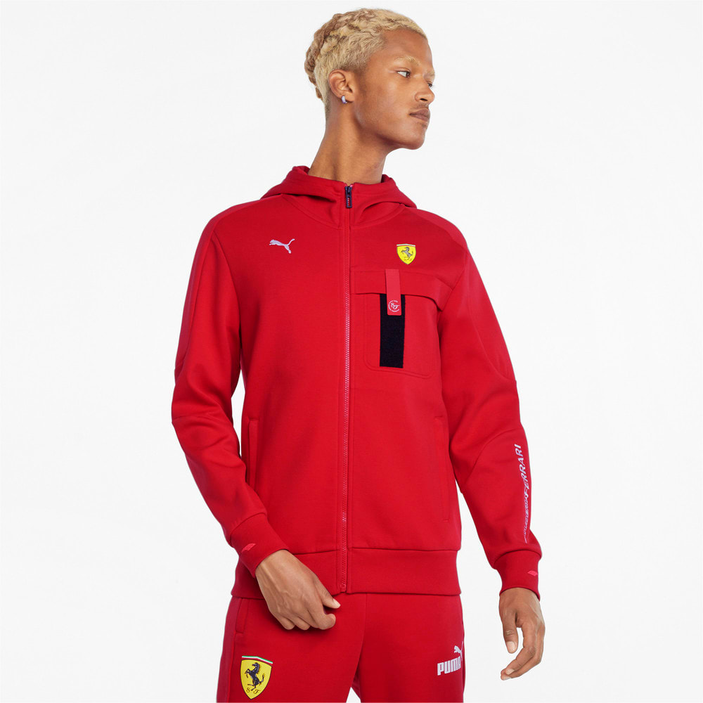 Изображение Puma Куртка Scuderia Ferrari Race Hooded Men's Sweat Jacket #1: rosso corsa