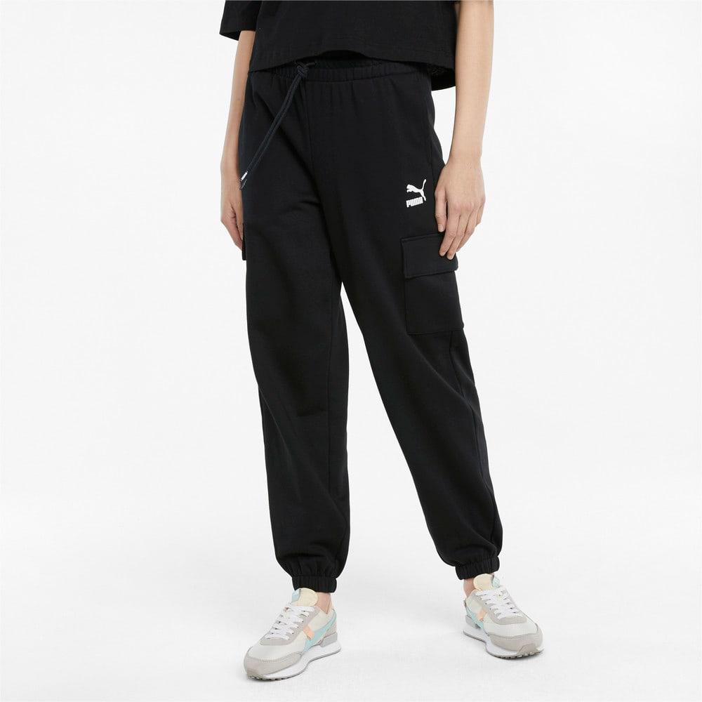 Изображение Puma Штаны CLSX Cargo Women's Sweatpants #1: Puma Black
