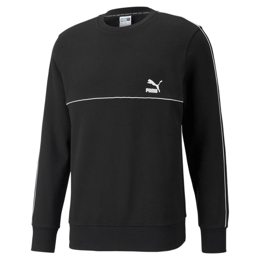 Изображение Puma Толстовка CLSX French Terry Piped Crew Neck Men's Sweatshirt #1