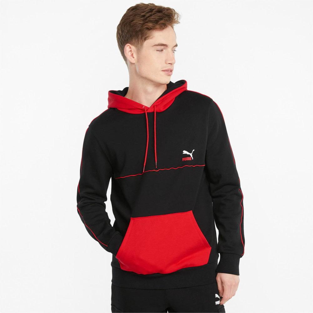 Görüntü Puma CLSX Şerit Detaylı Erkek Kapüşonlu Sweatshirt #1