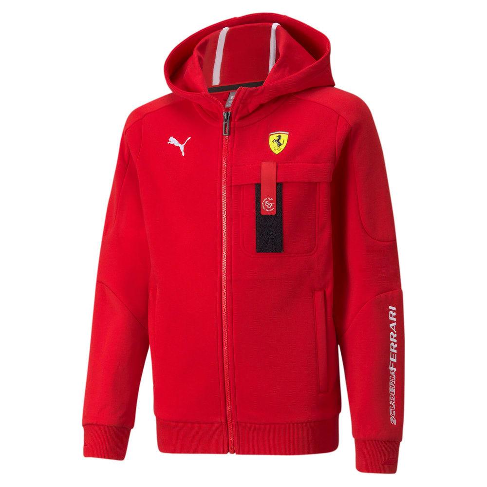 Image Puma Scuderia Ferrari Race Hooded Youth Sweat Jacket #1