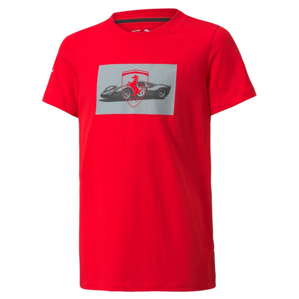 Görüntü Puma SCUEDERIA FERRARI Race Motorsport Damalı Bayrak Youth T-shirt #1
