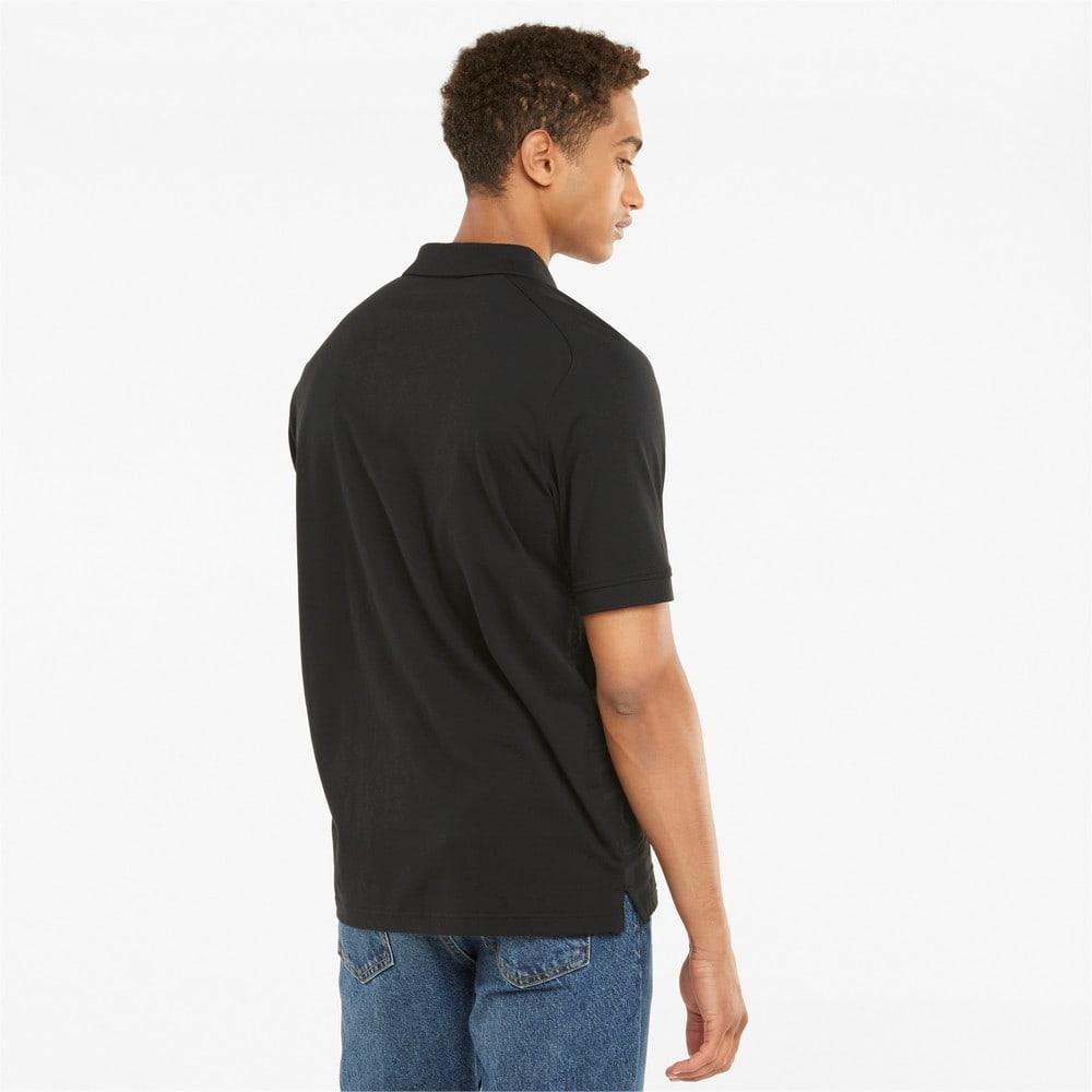 Изображение Puma Поло Scuderia Ferrari Style Jacquard Men's Polo Shirt #2: Puma Black