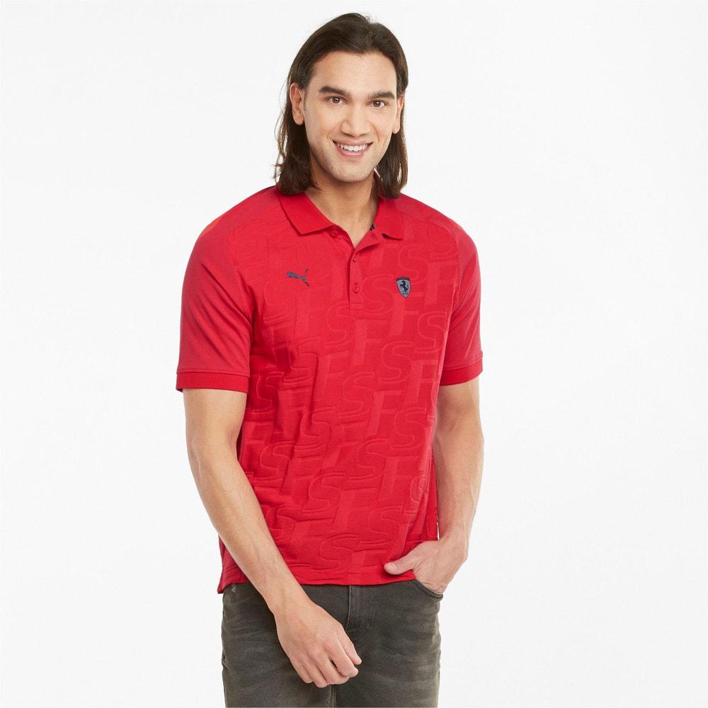 Изображение Puma Поло Scuderia Ferrari Style Jacquard Men's Polo Shirt #1