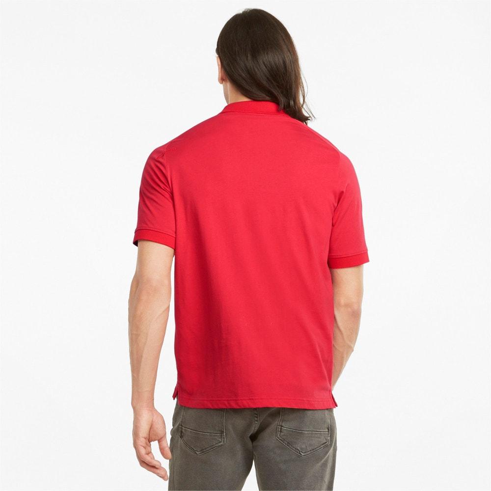 Изображение Puma Поло Scuderia Ferrari Style Jacquard Men's Polo Shirt #2