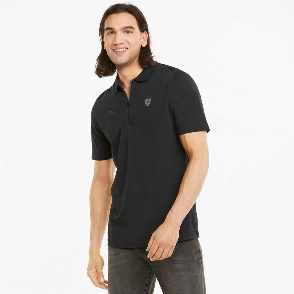 Изображение Puma Поло Scuderia Ferrari Style Men's Polo Shirt #1: Puma Black