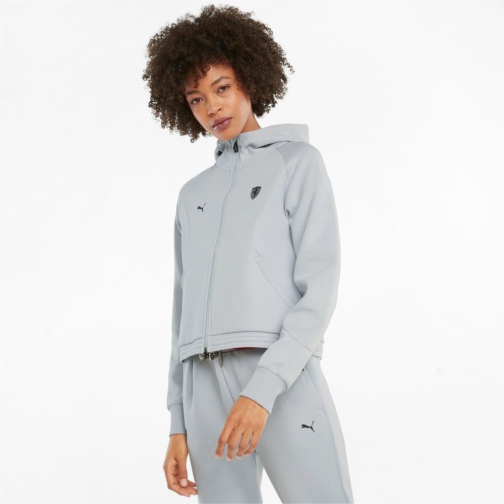 Image Puma Scuderia Ferrari Style Hooded Women's Sweat Jacket #1