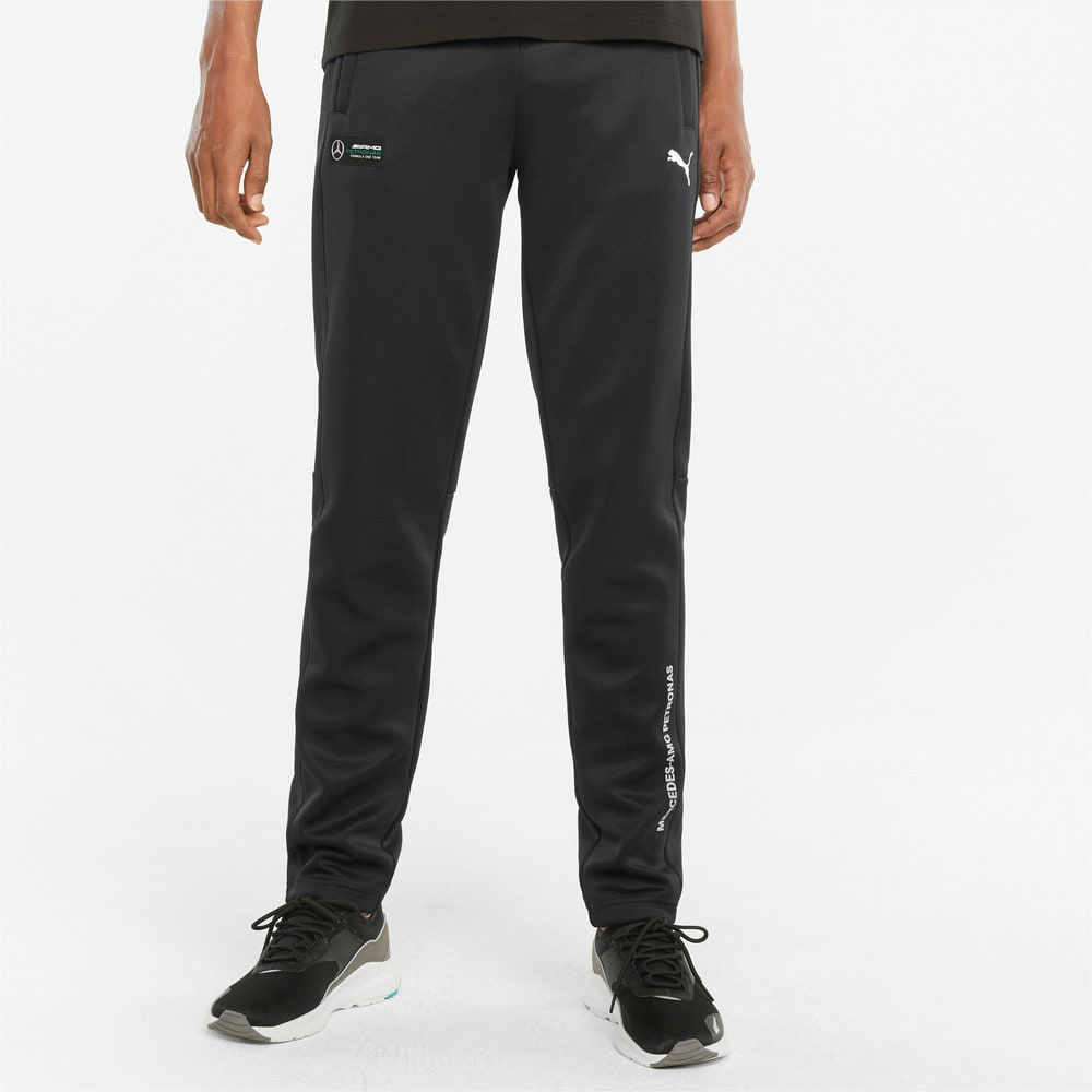 Изображение Puma Штаны Mercedes F1 T7 Slim Men's Track Pants #1: Puma Black