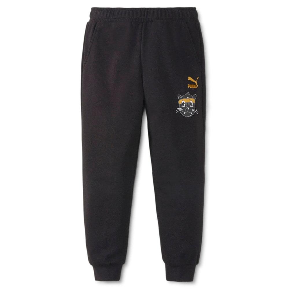 Изображение Puma Детские штаны LIL PUMA Kids' Sweatpants #1: Puma Black
