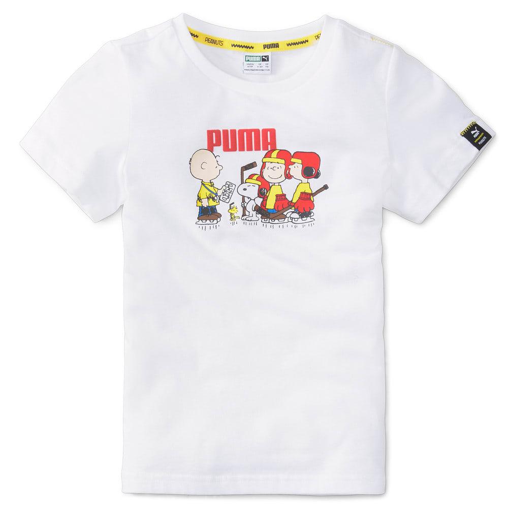 Зображення Puma Дитяча футболка PUMA x PEANUTS Kids' Tee #1: Puma White