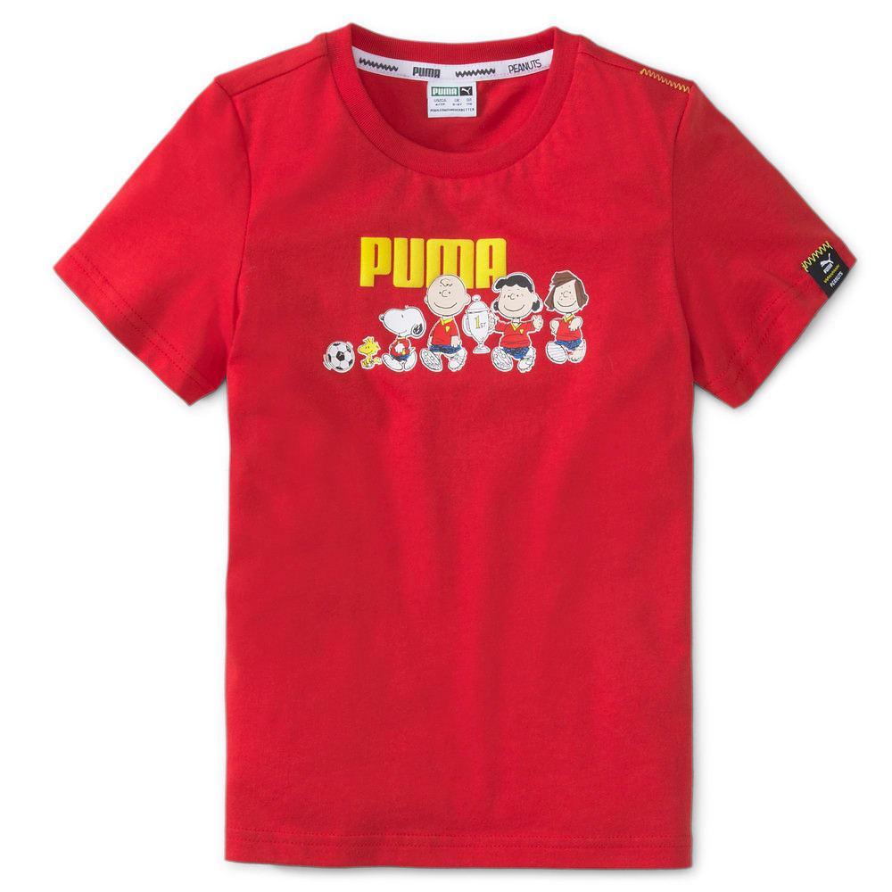 Зображення Puma Дитяча футболка PUMA x PEANUTS Kids' Tee #1: Urban Red