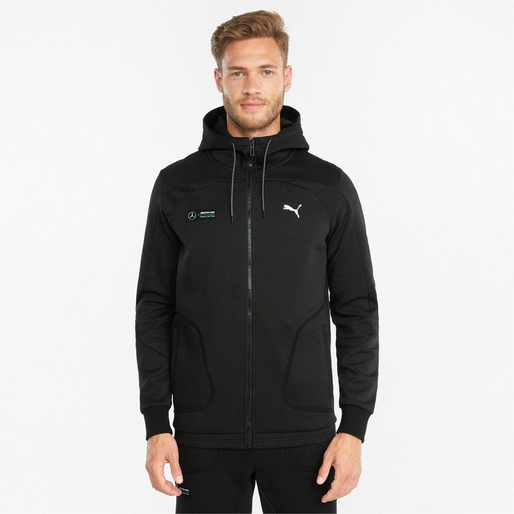 Изображение Puma Толстовка Mercedes F1 Hooded Men's Sweat Jacket #1: Puma Black