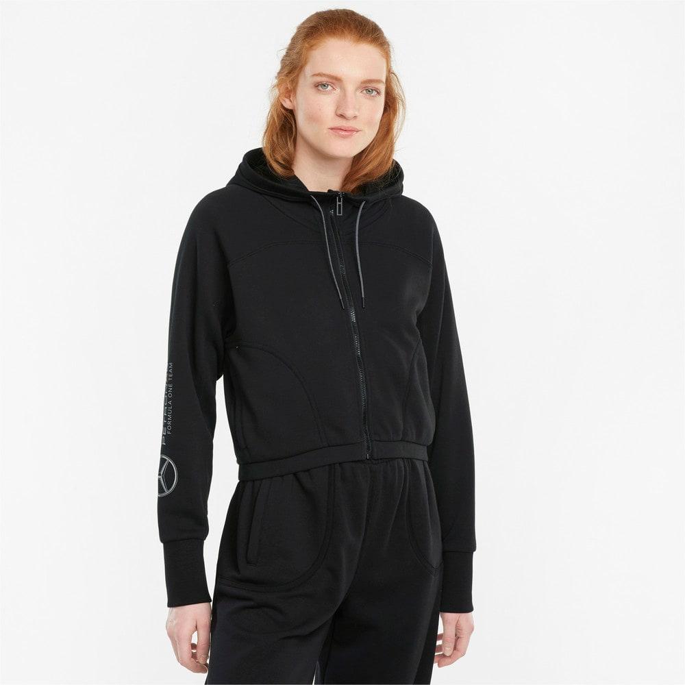 Изображение Puma Толстовка Mercedes F1 Hooded Women's Sweat Jacket #1: Puma Black