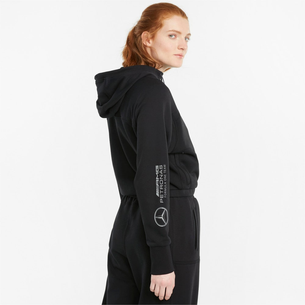 Изображение Puma Толстовка Mercedes F1 Hooded Women's Sweat Jacket #2: Puma Black