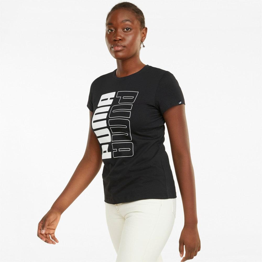 Зображення Puma Футболка Power Logo Women's Tee #1: Puma Black-Puma White