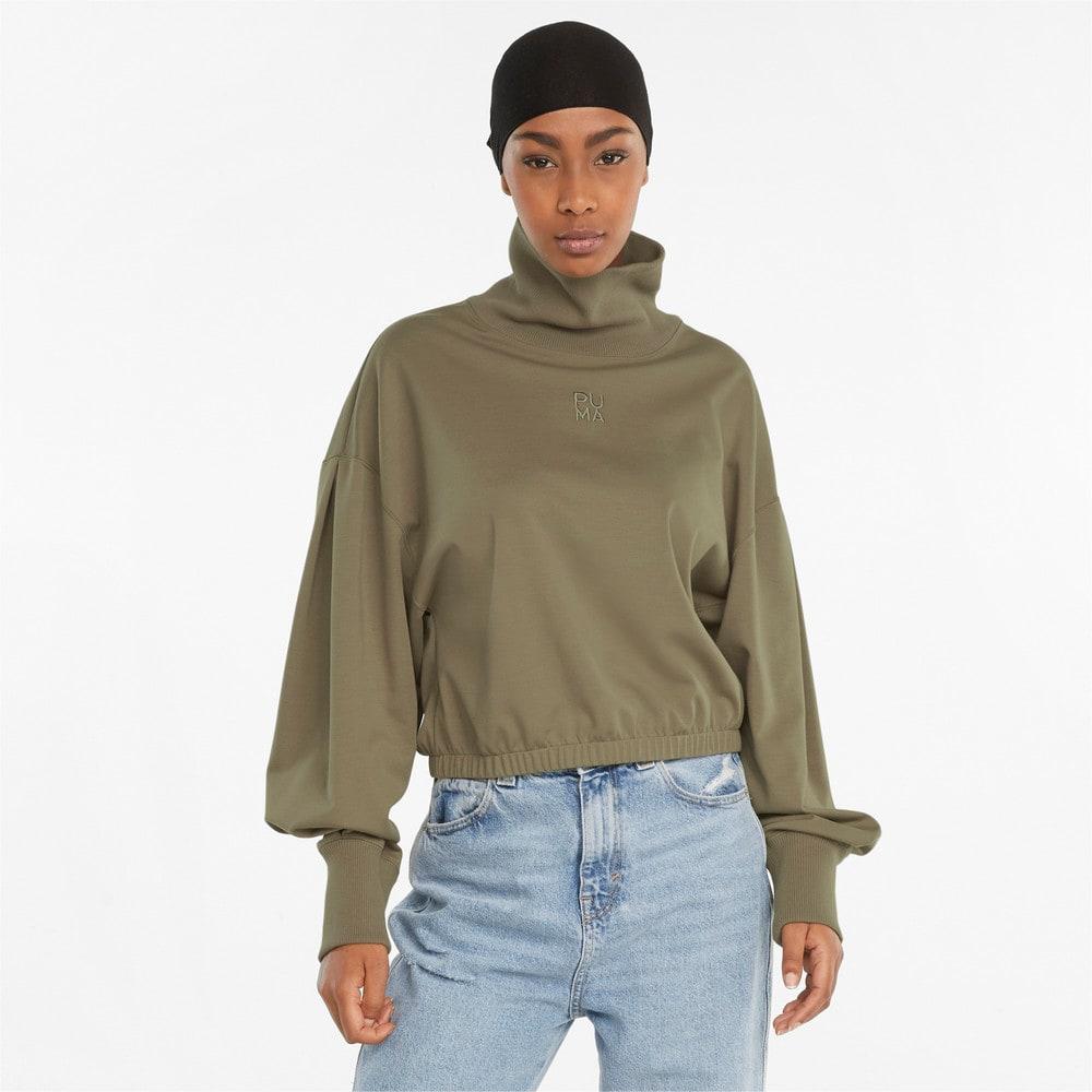 Зображення Puma Толстовка Infuse High-Neck Women's Sweater #1: Covert Green
