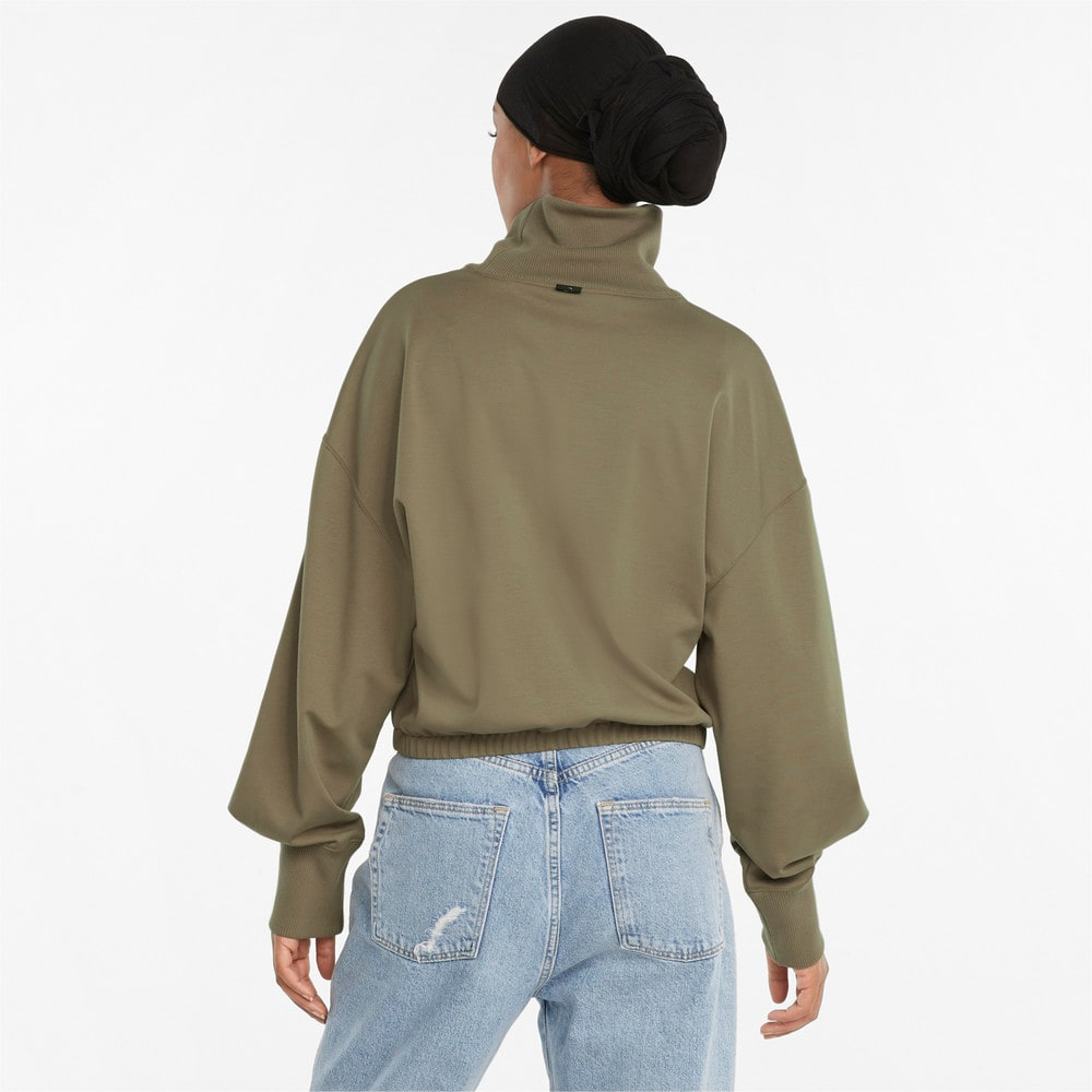 Зображення Puma Толстовка Infuse High-Neck Women's Sweater #2: Covert Green