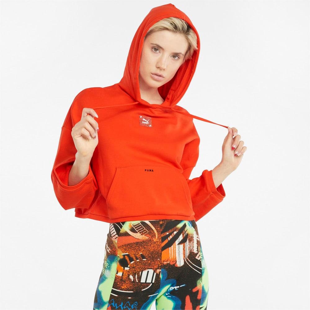 Görüntü Puma RE.GEN Kısa Kesim Kadın Kapüşonlu Sweatshirt #1